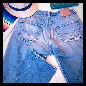 501 Levi's Strauss Button Fly Jeans 33x30